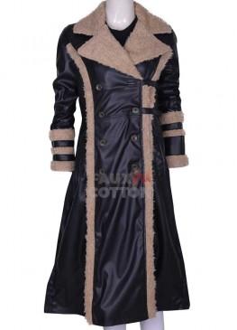 Triple XXX Yelena Fur Black Coat