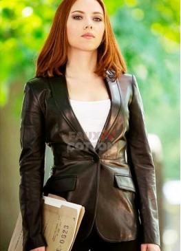 Captain America Black Widow Leather Blazer