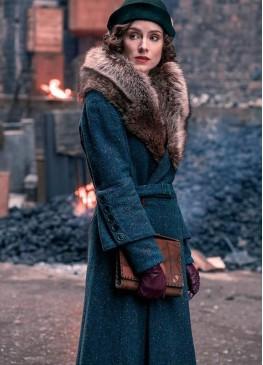 Peaky Blinders Season 5 Ada Shelby Fur Collar Coat