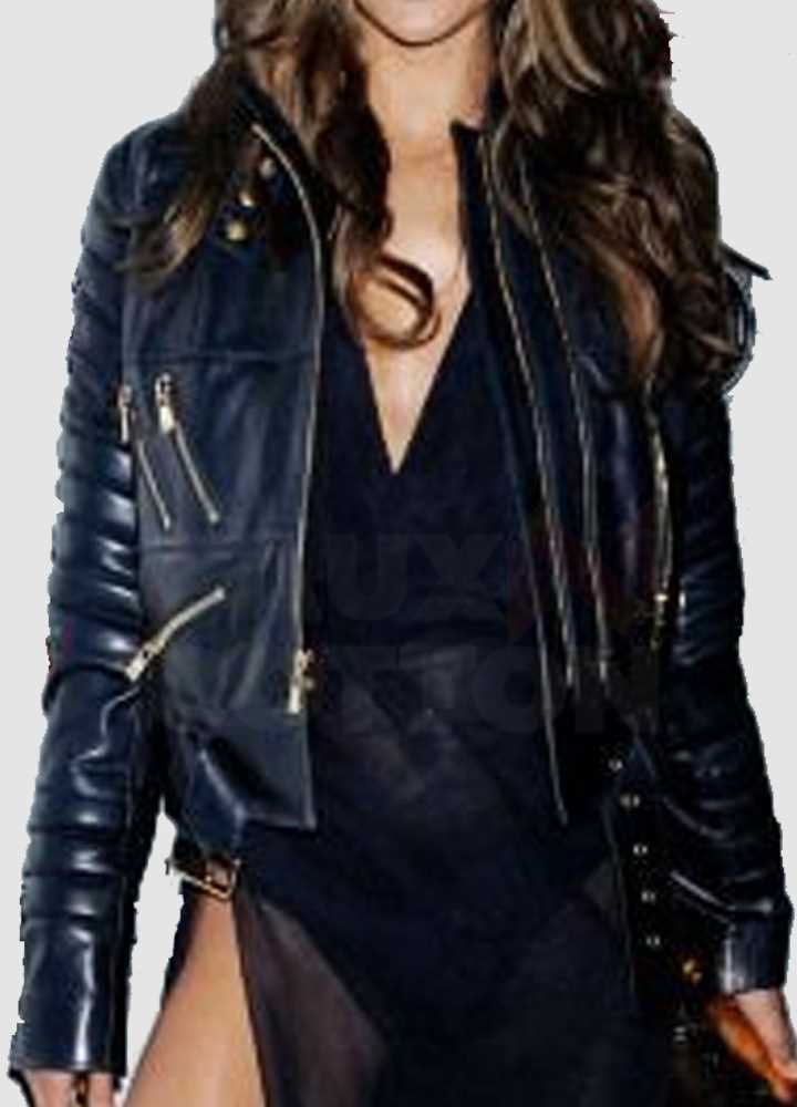 Alessandra Ambrosio Victoria Secret Blue Jacket
