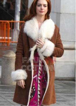 Modern Love Anne Hathaway Brown Coat