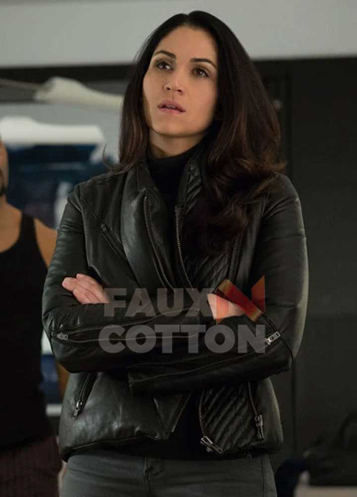 Power Lela Loren Leather Jacket