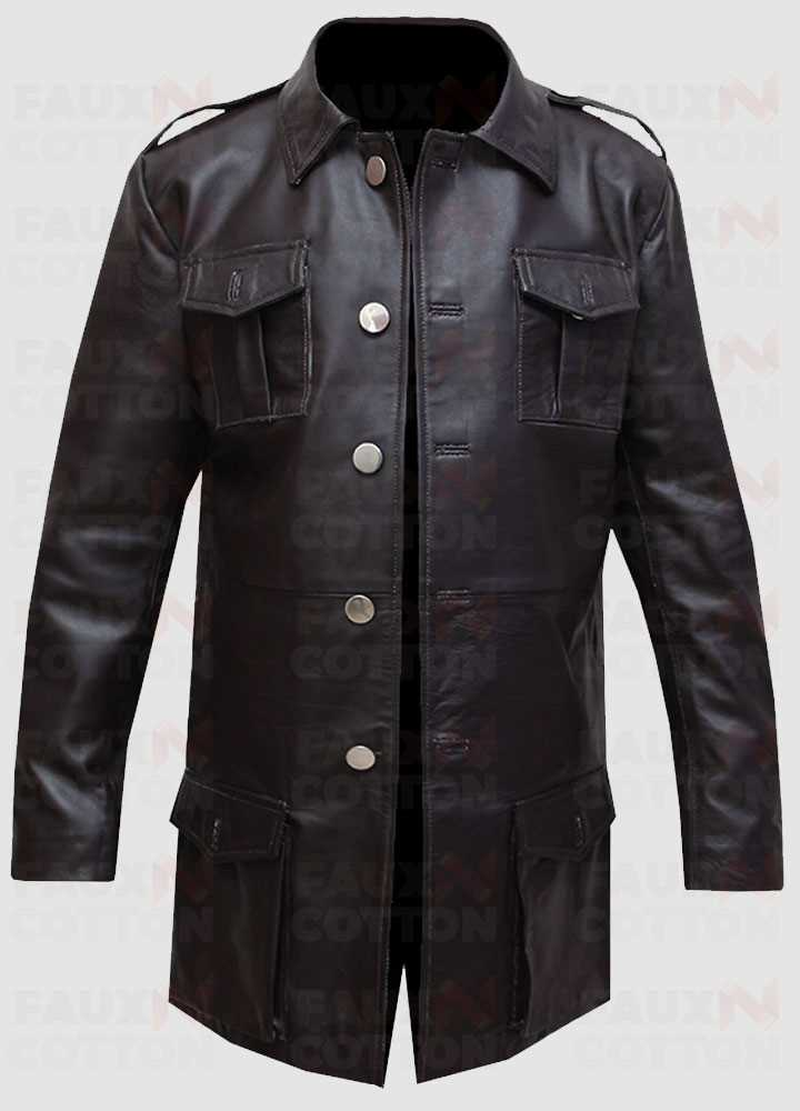 German Brown Blazer Leather Coat