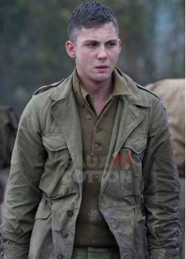 Fury Logan Lerman Green Jacket