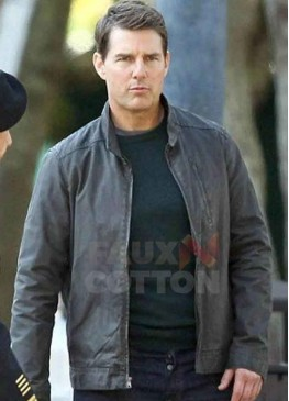 Jack Reacher Never Go Back Tom Cruise Leather Jacket