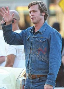 Once Upon A Time In Hollywood Brad Pitt Denim Jacket