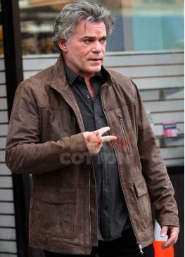 Shades Of Blue Ray Liotta Leather Jacket