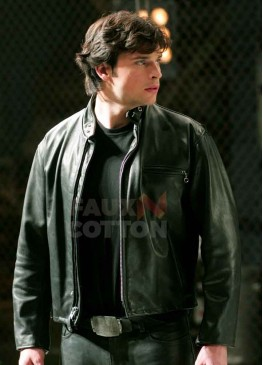 Smallville Tom Welling Black Leather Jacket