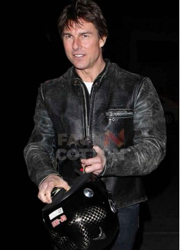 Tom Cruise Distressed Motorcycle Jacket