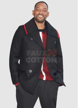 Bad Boys For Life Will Smith Black Pea Coat