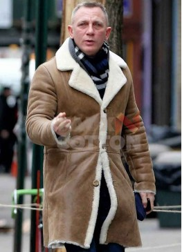 Daniel Craig Shearling Winter Coat