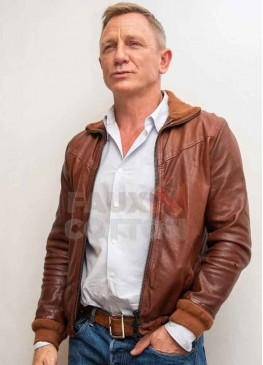 Knives Out Daniel Craig Brown Leather Jacket