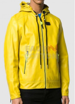 Men's Yellow Hoodie Jacket
