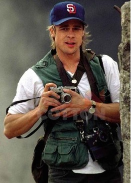 Spy Game Brad Pitt Green Cotton Vest