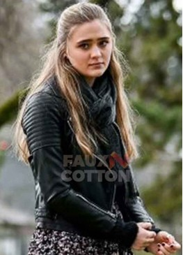 A Million Little Things Lizzy Greene Black Leather Jacket