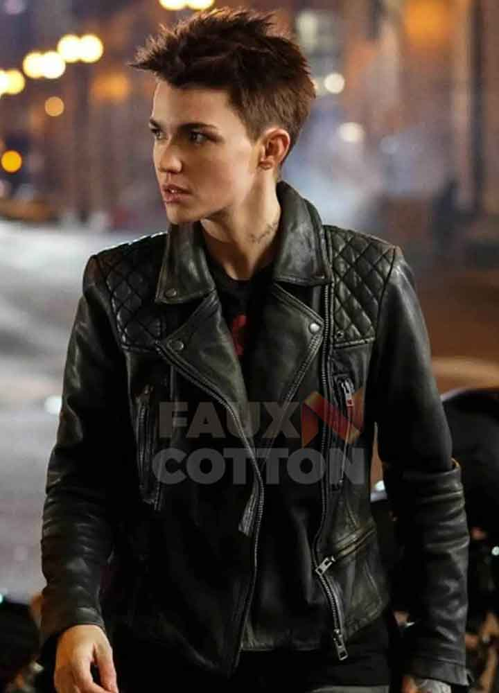 Batwoman Ruby Rose Black Leather Jacket