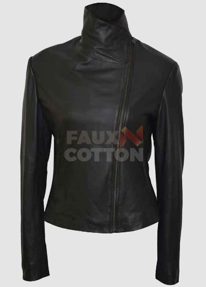Defiance Julie Benz Black Leather Jacket