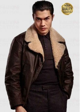 The Gentlemen Dry Eye Brown Shearling Jacket