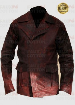 Will Smith I Robot Distressed Leather Jacket