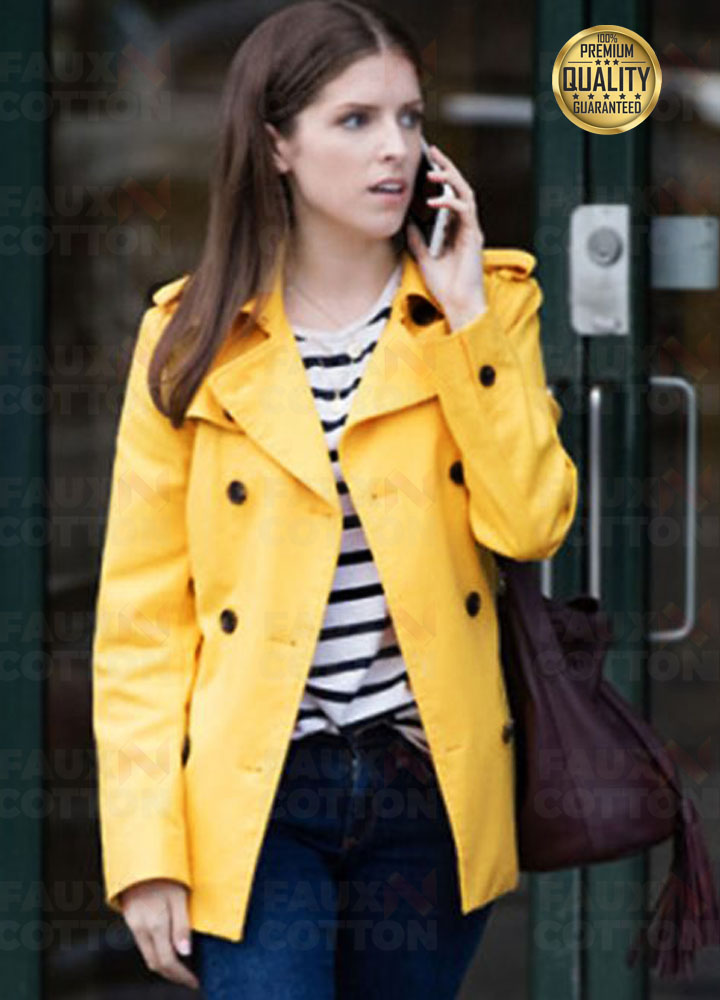 A Simple Favor Anna Kendrick ( Stephanie Smothers ) Yellow Coat