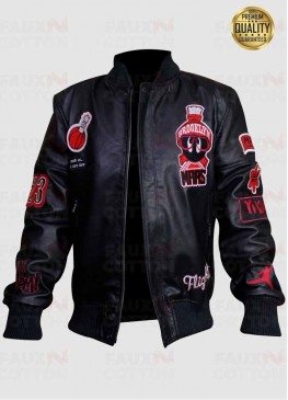 Marvin The Martin Air Jordan Bomber Leather Jacket