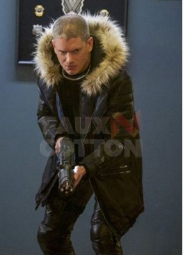 CAPTAIN COLD CRISIS ON EARTH-X FUR LEATHER JACKET