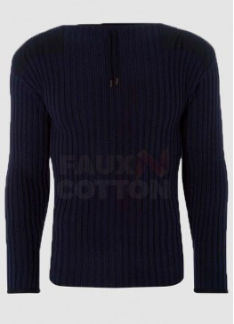 No Time To Die James Bond 007 Blue Sweater