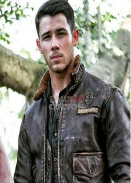 Jumanji 2 Nick Jonas Brown Jacket