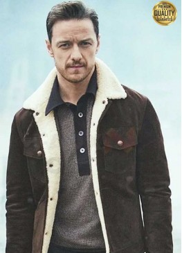 His Dark Materials Lord Asriel Brown Suede Shearling Jacket