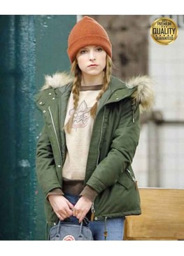 Love Life Anna Kendrick Green Fur Jacket