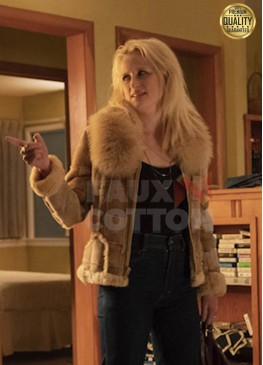True Detective Lucy Purcell Fur Leather Jacket