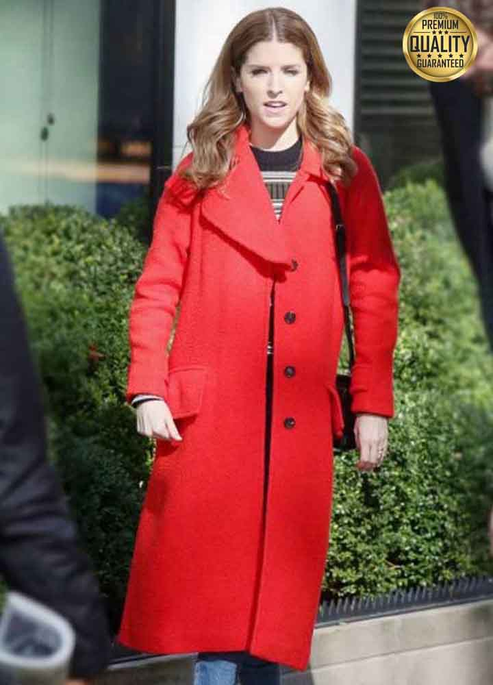 Anna Kendrick Love Life Darby Carter Red Coat