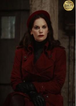 Ruth Wilson His Dark Materials Season 2 Red Trench Coat