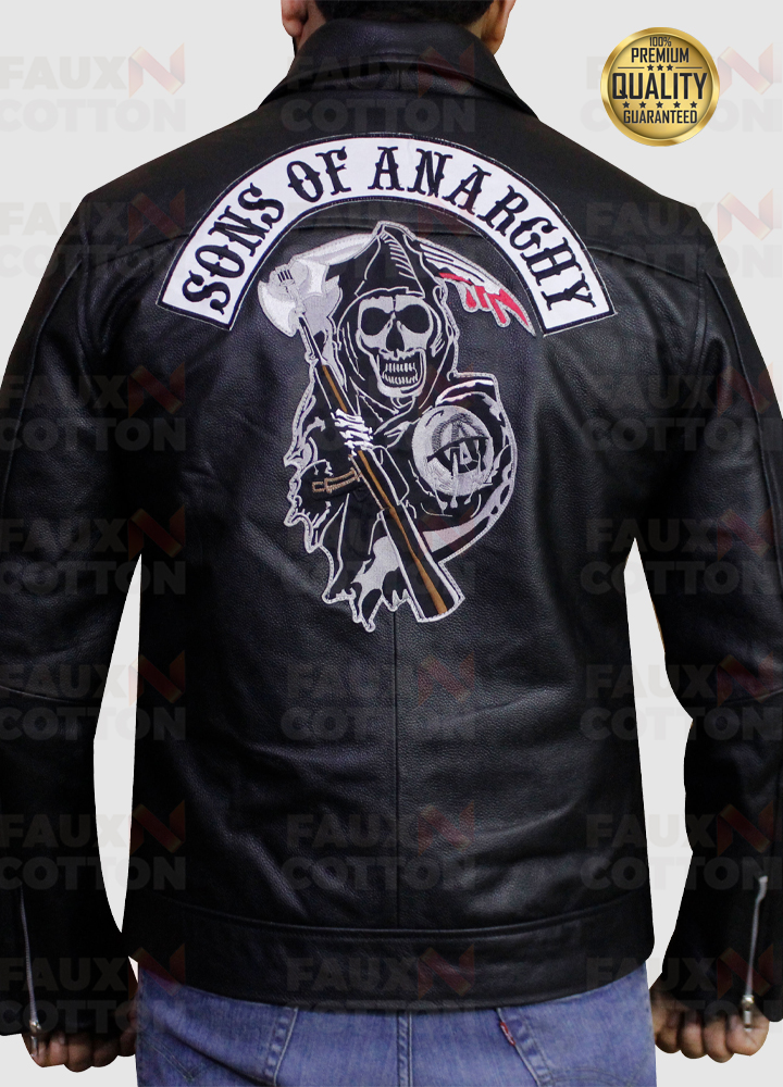 Sons of Anarchy Patch Black Leather Jacket