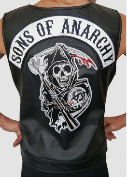 SONS OF ANARCHY WOMEN LEATHER VEST