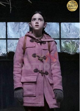 Tales From The Loop Young Girl Pink Wool Coat