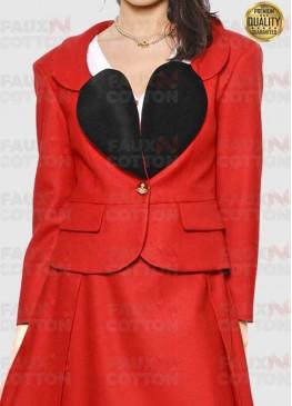 Vivienne Westwood Heart Shape Lapel Collar Red Blazer